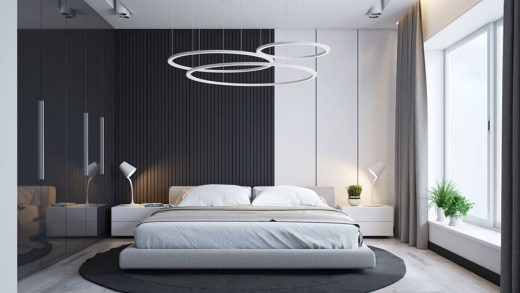 lampadario camera contemporanea